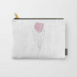 One Line Tulip Carry-All Pouch