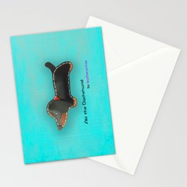 Aki the Dachshund by leatherprince Stationery Cards