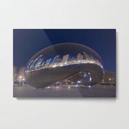 Chicago   Blue Bean Metal Print