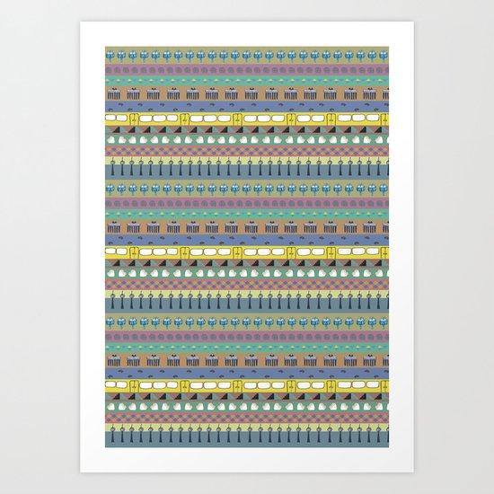 Berlin pattern Art Print
