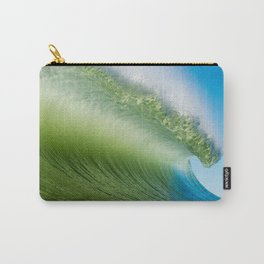 BlueGreen Wave Carry-All Pouch