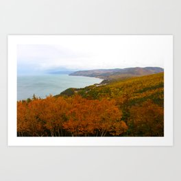 Fall Mountains Art Print