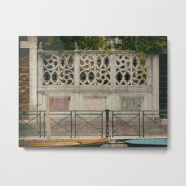 cercles in wall Venice Italy Metal Print