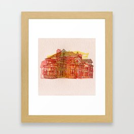 Letterpress Houses 3 Framed Art Print