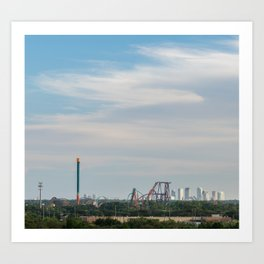 Tampa Roller Coaster Art Print
