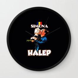 Simona Halep Romania Wall Clock