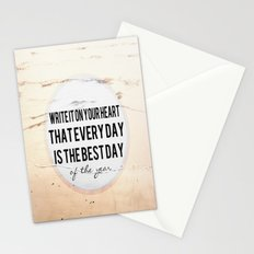 Write It On Your Heart  Stationery Cards