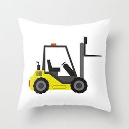forklift Throw Pillow