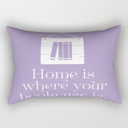 Home Is Where Your Bookcase Is (Violet) Rectangular Pillow