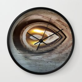 Lighted Water Tunnel Abstract Wall Clock