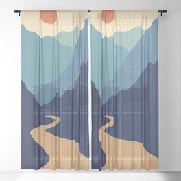 Mountains & River II Sheer Curtain