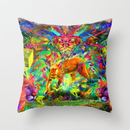 The Laser Focus of Couger Conciousness Throw Pillow