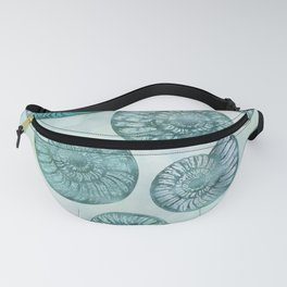 Shimmering Underwater Shell Scenery Aqua Colors Fanny Pack