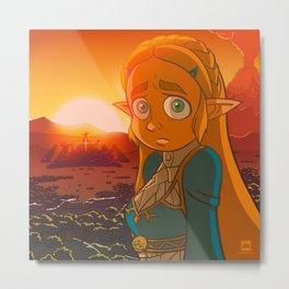 Zelda: Breath of the Wild Metal Print