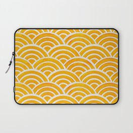 Japanese Seigaiha Wave – Marigold Palette Laptop Sleeve