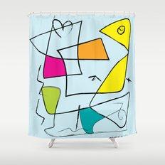 bird and open box Shower Curtain