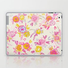 Flower garden in pink and yellow Laptop & iPad Skin