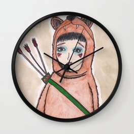 The lonely hunter Wall Clock