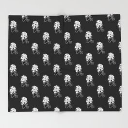 Peony Floral Bouquet Throw Blanket