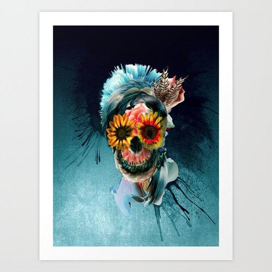 Skull Women Art Print