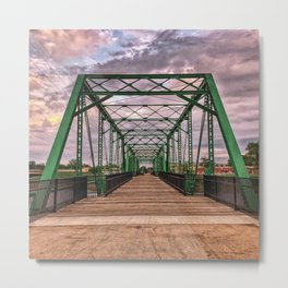 The Green Bridge 1 Metal Print