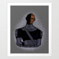deathstroke Art Prints featuring DC: Glitter Slade by aka-noodle