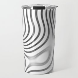 Organic Abstract 01 WHITE Travel Mug