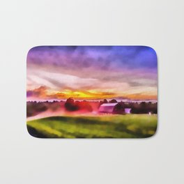 Day is Done on the Farm Bath Mat