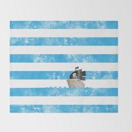 Pirates Love Stripes Throw Blanket