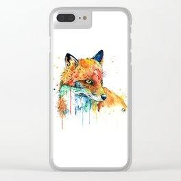 Fox - Foxy Clear iPhone Case