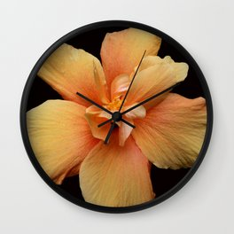 Yellow Hibiscus Wall Clock