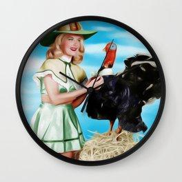 Barbara Bates, Vintage Actress and Pinup Wall Clock