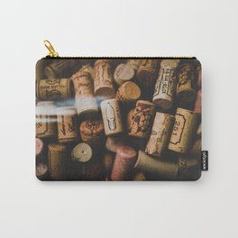 A collection of Wine Corks Photo Carry-All Pouch