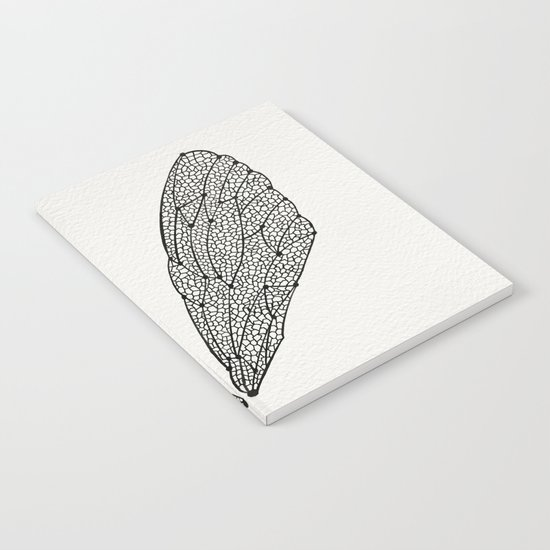 Black Cicada Wings Notebook