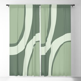 Abstract Shapes 45 in Sage Green (Rainbow Abstraction) Blackout Curtain