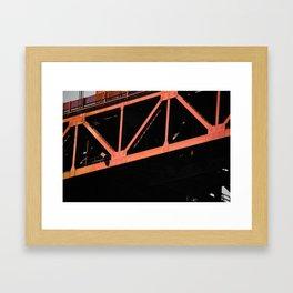 Crosshairs - Golden Gate Bridge San Francisco Framed Art Print