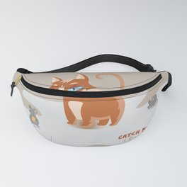Ginger Cat and Mice Catch me If You Can Fanny Pack