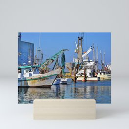 Galveston Fishing Boats Mini Art Print