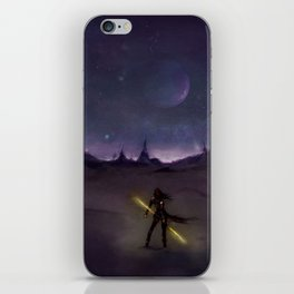 Under the Light from Distant Worlds iPhone Skin