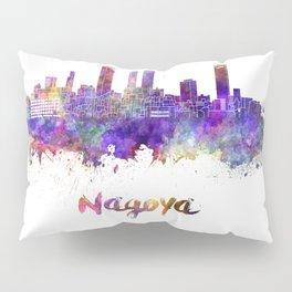 Nagoya skyline in watercolor Pillow Sham