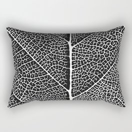 Modern abstract black white tree leave texture Rectangular Pillow