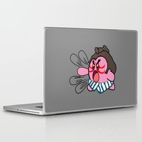 kirby Laptop & iPad Skins featuring E Kirby by cudatron