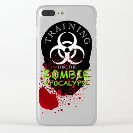 Training for Zombies Clear iPhone Case