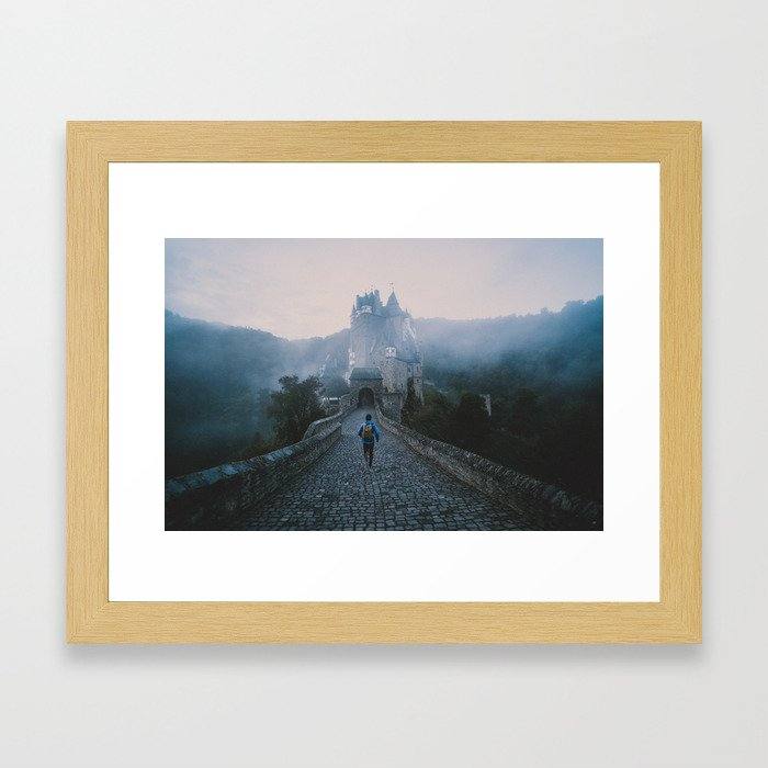 Castle Eltz Moody Morning Framed Art Print