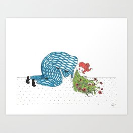 The Fear of Vomiting [flowers] Art Print