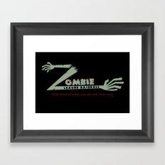Zombie League Baseball Framed Art Print