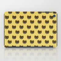 wes anderson iPad Cases featuring Wes Racoon by mleko