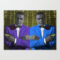 bond Canvas Prints featuring Bond by POP Prints by FMcLaws