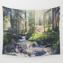 a mountain stream ... Wall Tapestry