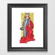 Lady Thor Framed Art Print